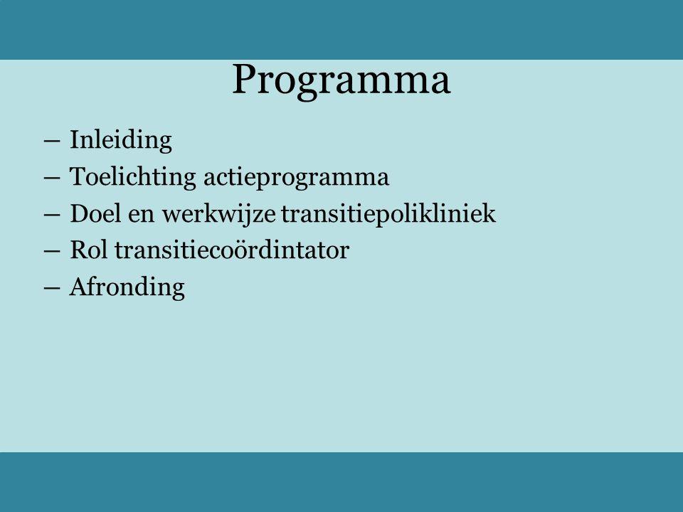 Inleiding Keuze Kenniskring Transities in Zorg Begeleiding Kwaliteit Workshops