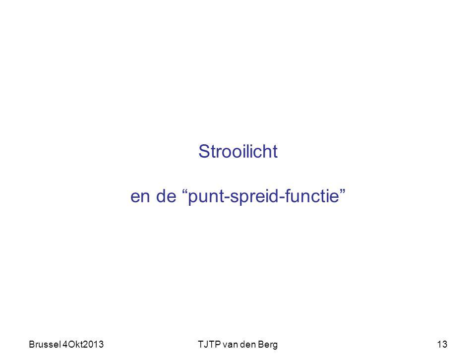 Brussel 4Okt2013TJTP van den Berg13 Strooilicht en de punt-spreid-functie