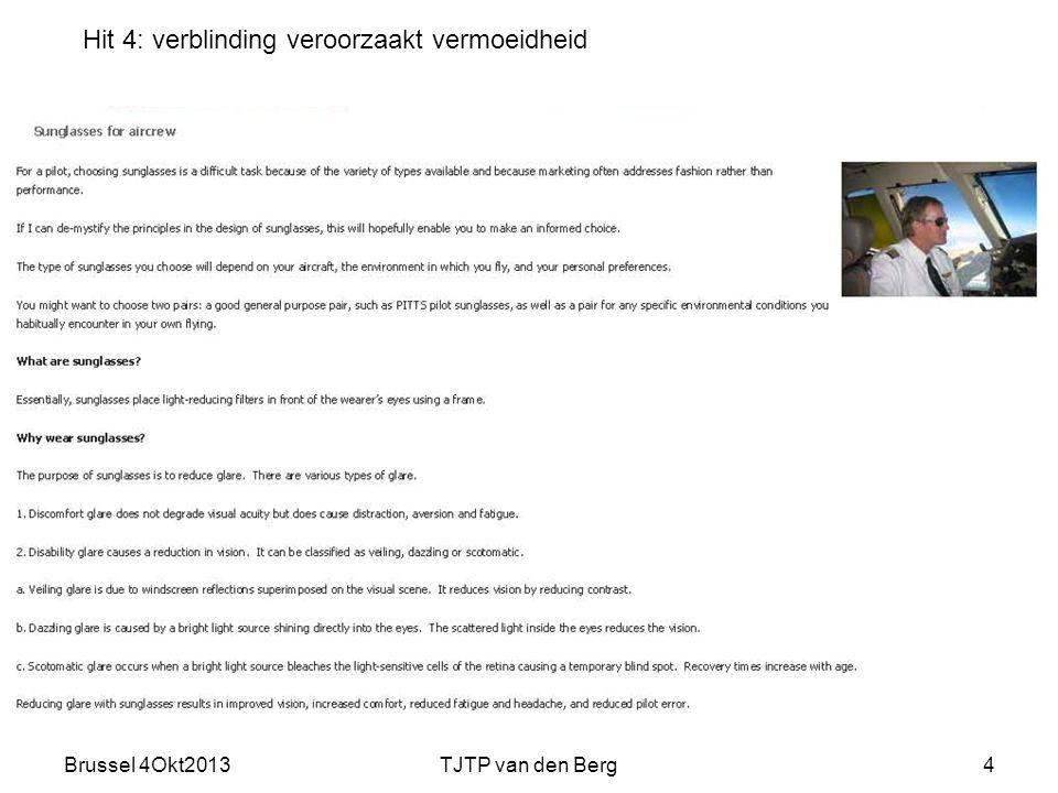 Brussel 4Okt2013TJTP van den Berg4 Hit 4: verblinding veroorzaakt vermoeidheid