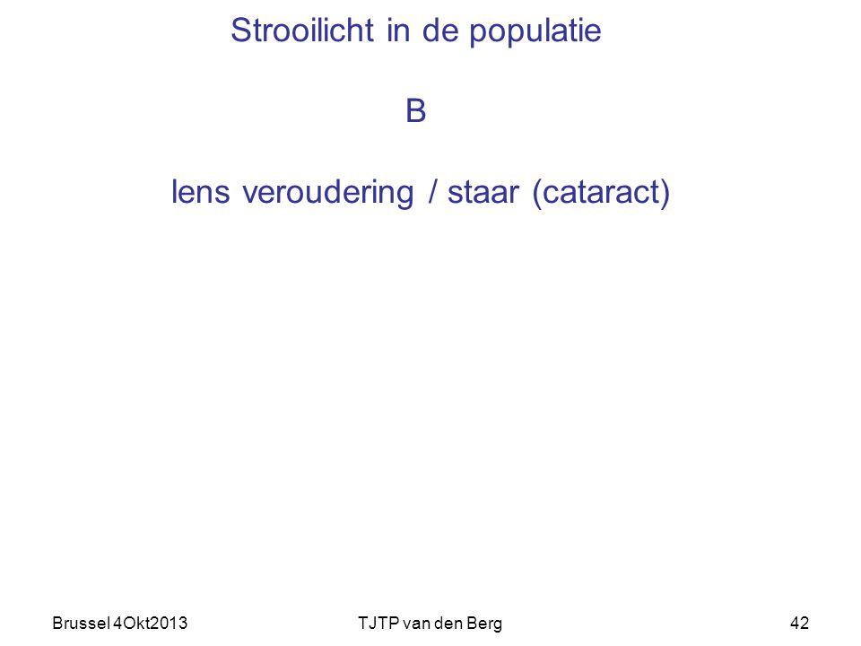 Brussel 4Okt2013TJTP van den Berg42 Strooilicht in de populatie B lens veroudering / staar (cataract)