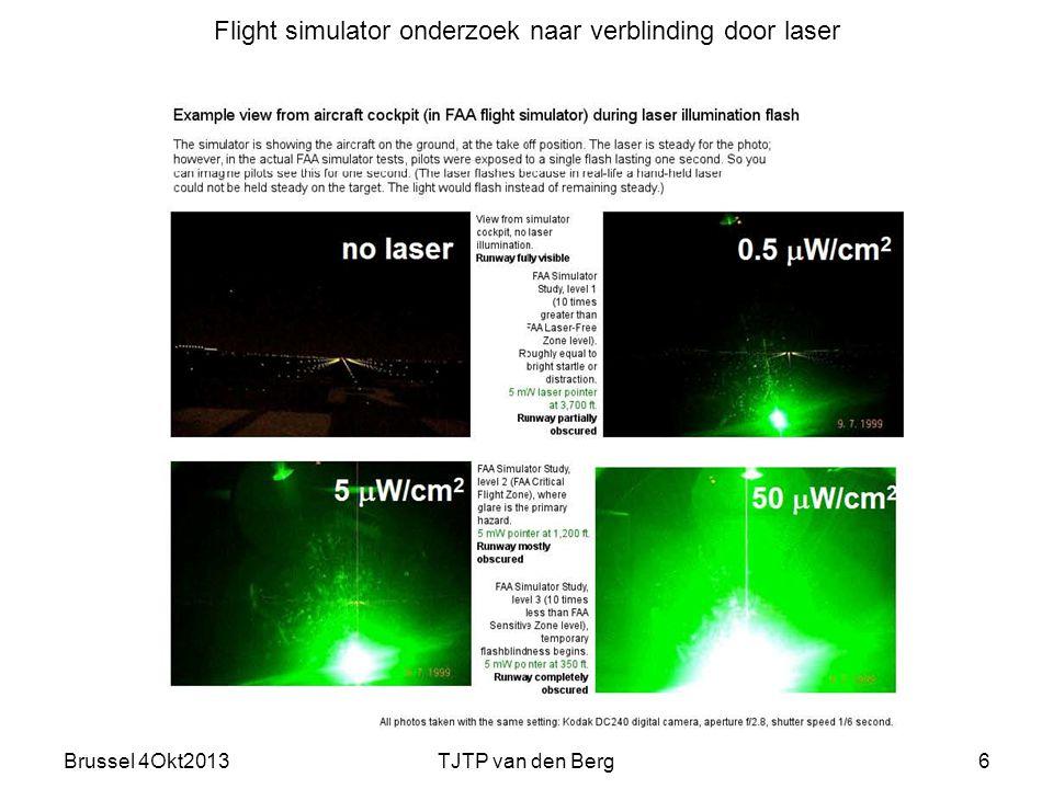 Brussel 4Okt2013TJTP van den Berg6 Flight simulator onderzoek naar verblinding door laser