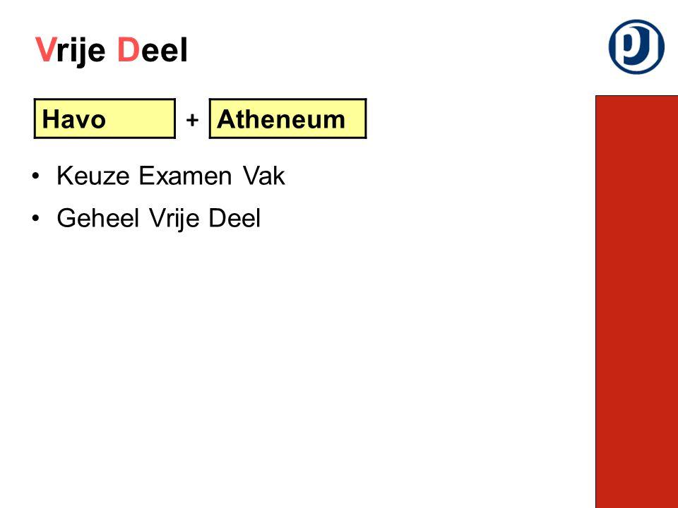 Vrije Deel Havo + Atheneum Keuze Examen Vak Geheel Vrije Deel