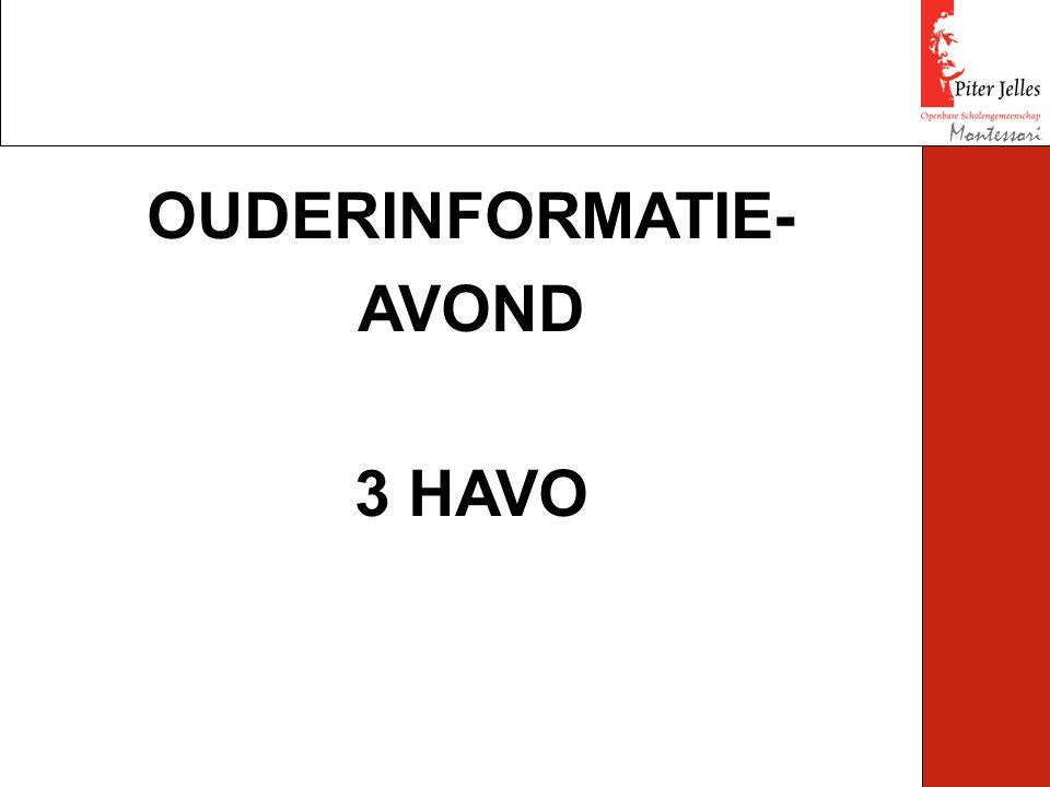 Montessori OUDERINFORMATIE- AVOND 3 HAVO