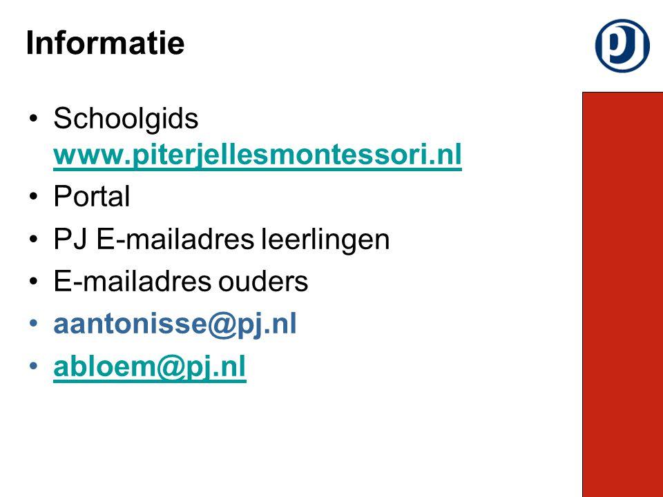 Schoolgids www.piterjellesmontessori.nl www.piterjellesmontessori.nl Portal PJ E-mailadres leerlingen E-mailadres ouders aantonisse@pj.nl abloem@pj.nl Informatie