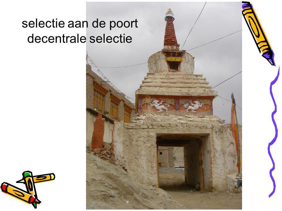 selectie aan de poort decentrale selectie