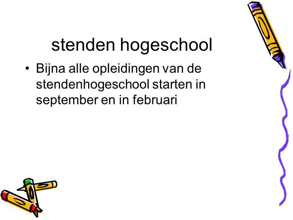 stenden hogeschool Bijna alle opleidingen van de stendenhogeschool starten in september en in februari