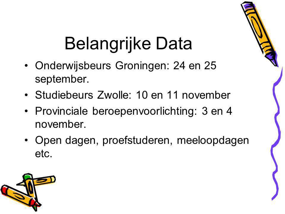 Belangrijke Data Onderwijsbeurs Groningen: 24 en 25 september.
