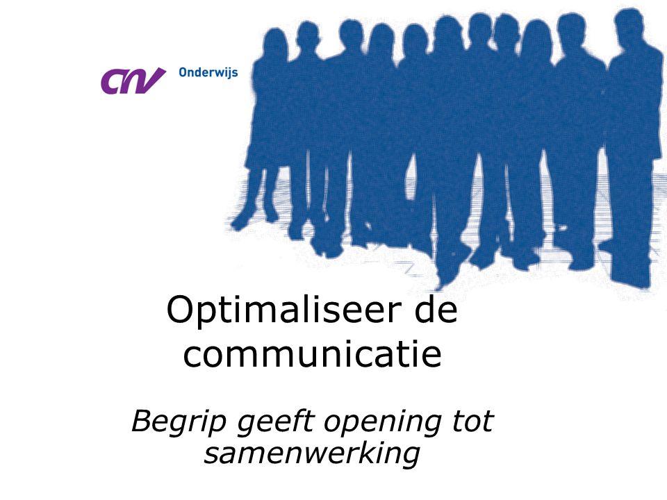 Optimaliseer de communicatie Begrip geeft opening tot samenwerking