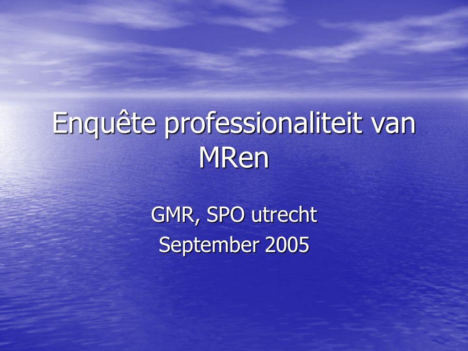 Enquête professionaliteit van MRen GMR, SPO utrecht September 2005