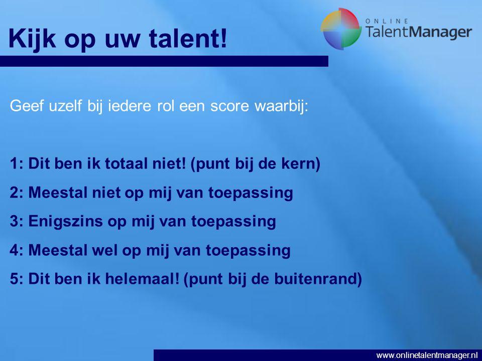 www.onlinetalentmanager.nl Kijk op uw talent.