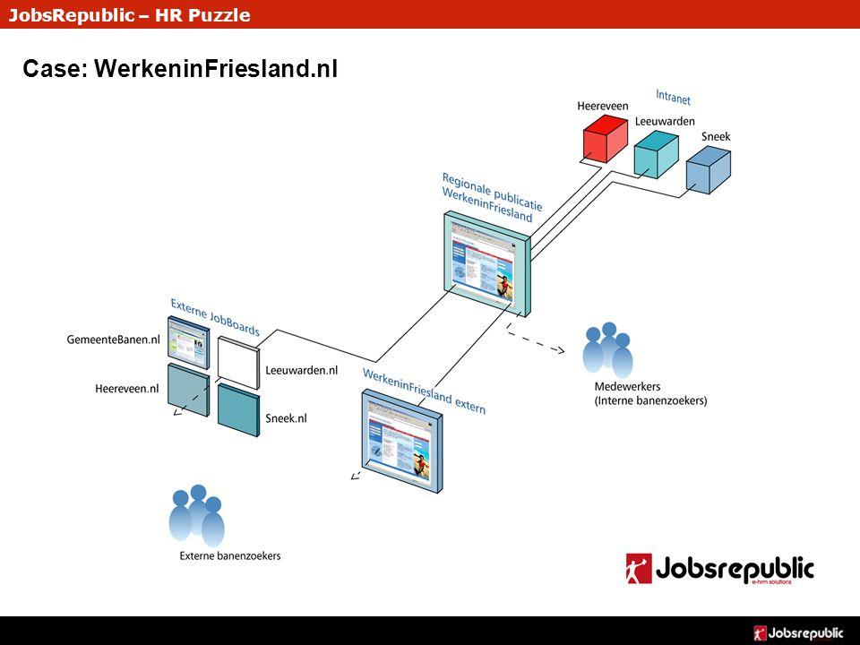 JobsRepublic – HR Puzzle Case: WerkeninFriesland.nl