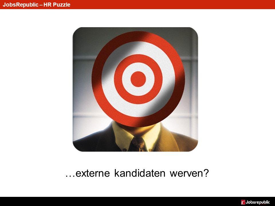 JobsRepublic – HR Puzzle …externe kandidaten werven?