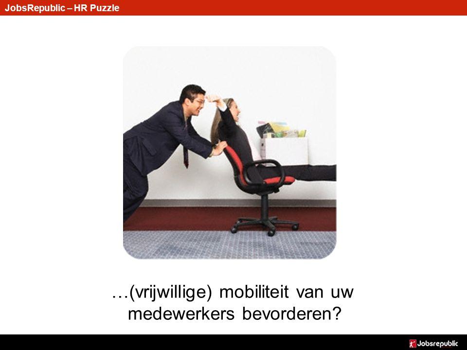JobsRepublic – HR Puzzle …(vrijwillige) mobiliteit van uw medewerkers bevorderen?