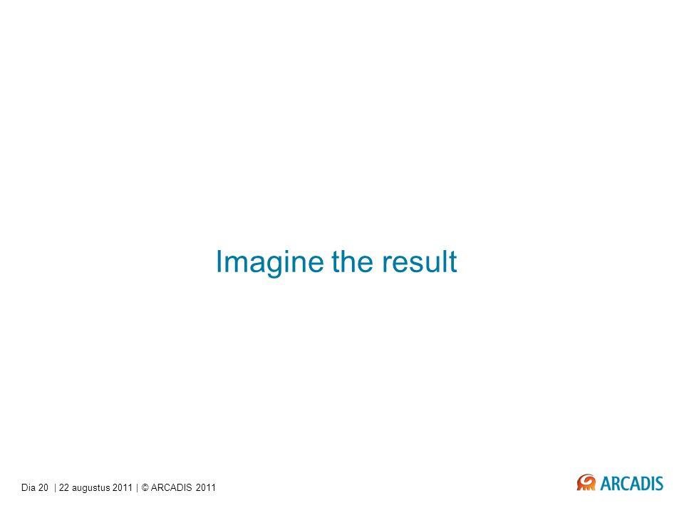 Imagine the result Dia 20 | 22 augustus 2011 | © ARCADIS 2011
