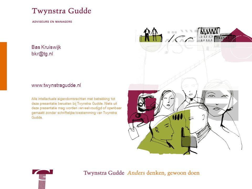 © Twynstra Gudde 14-4-2010 Enterprise Architecture 42 Alle intellectuele eigendomsrechten met betrekking tot deze presentatie berusten bij Twynstra Gudde.