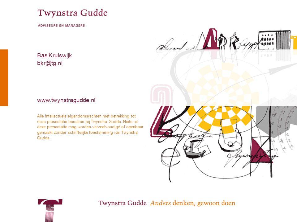 © Twynstra Gudde 12-9-2009 Service Oriented Architecture 20 Alle intellectuele eigendomsrechten met betrekking tot deze presentatie berusten bij Twyns
