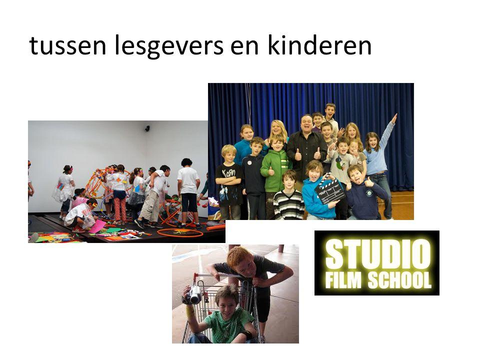 tussen lesgevers en kinderen
