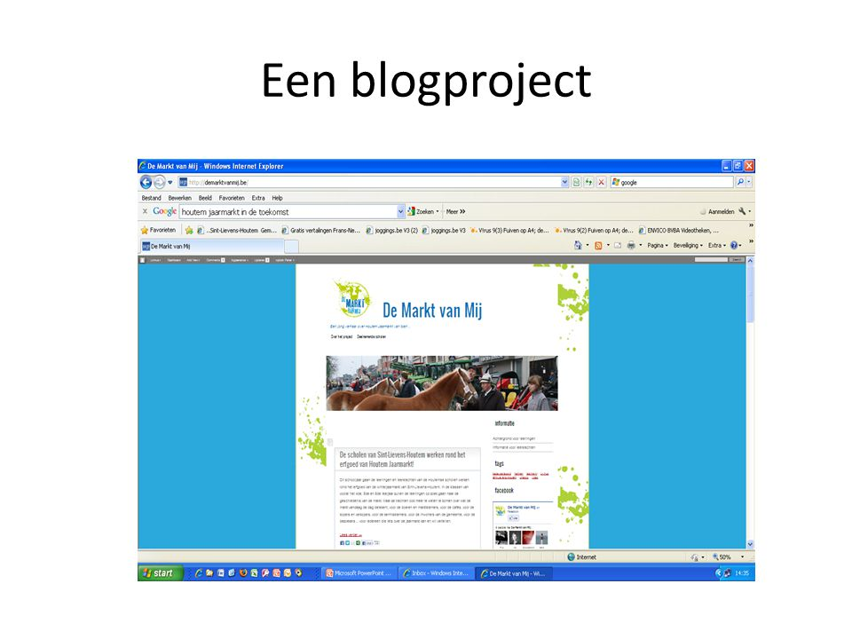 Een blogproject