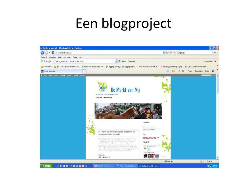 Een blogproject
