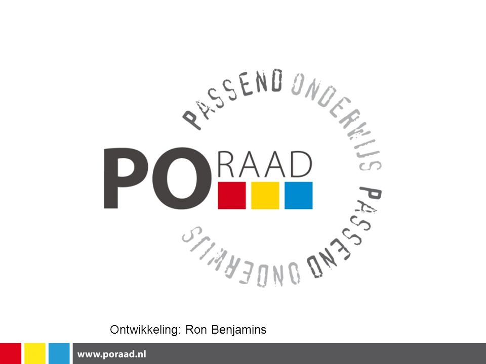 Ontwikkeling: Ron Benjamins