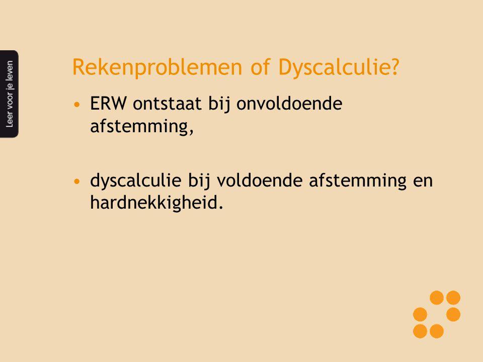 Rekenproblemen of Dyscalculie.
