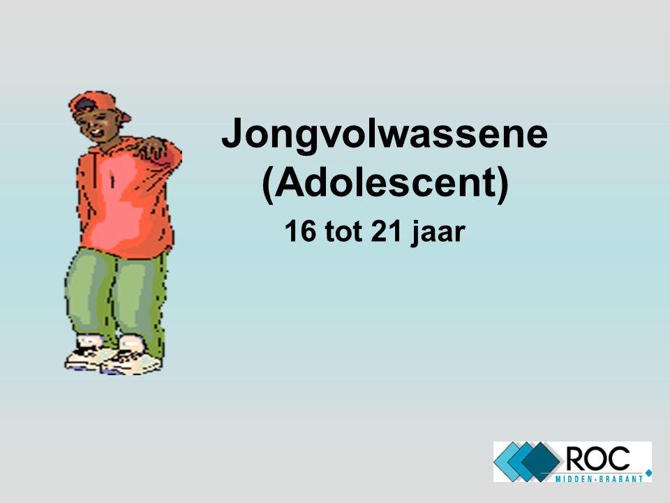 Jongvolwassene (Adolescent) 16 tot 21 jaar