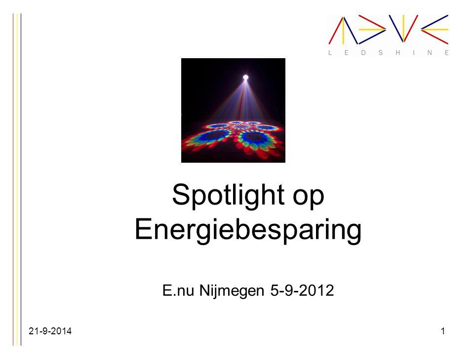 Spotlight op Energiebesparing E.nu Nijmegen 5-9-2012 21-9-20141