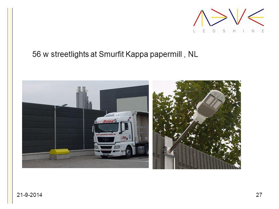 56 w streetlights at Smurfit Kappa papermill, NL 21-9-201427
