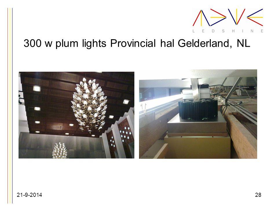 300 w plum lights Provincial hal Gelderland, NL 21-9-201428