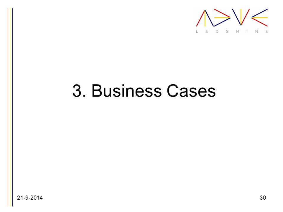 3. Business Cases 21-9-201430