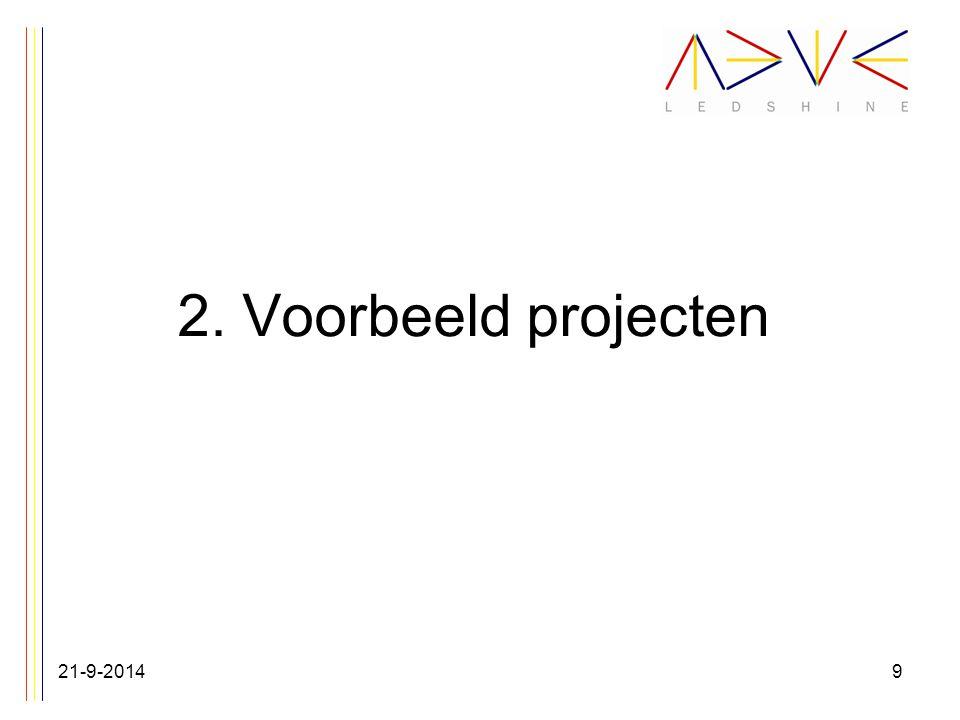 2. Voorbeeld projecten 21-9-20149
