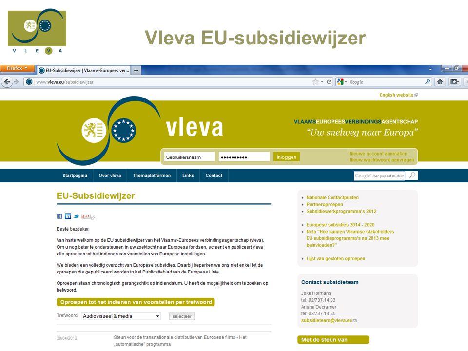 Vleva EU-subsidiewijzer