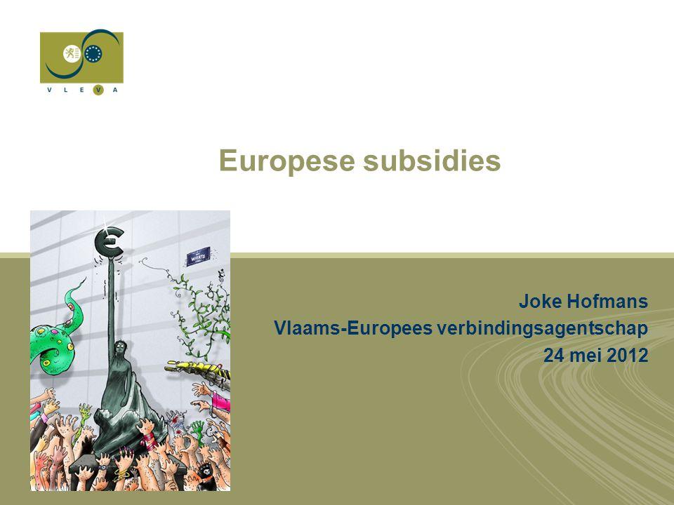 Contact Joke Hofmans Liaison officer Interbestuurlijk en Regionaal beleid Vlaams-Europees verbindingsagentschap Tel +32 (0)2 737 14 33 GSM +32 (0) 486 933 244 joke.hofmans@vleva.eu @JokeHofmans