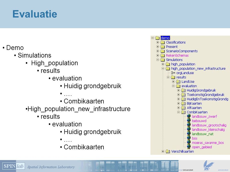 Evaluatie Demo Simulations High_population results evaluation Huidig grondgebruik ….