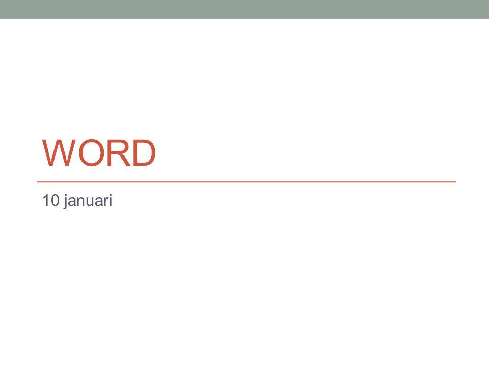 H1 – Kennismaking Officeknop Werkbalk snelle toegang Lint Tabbladen Groepsvakken Tekst typen