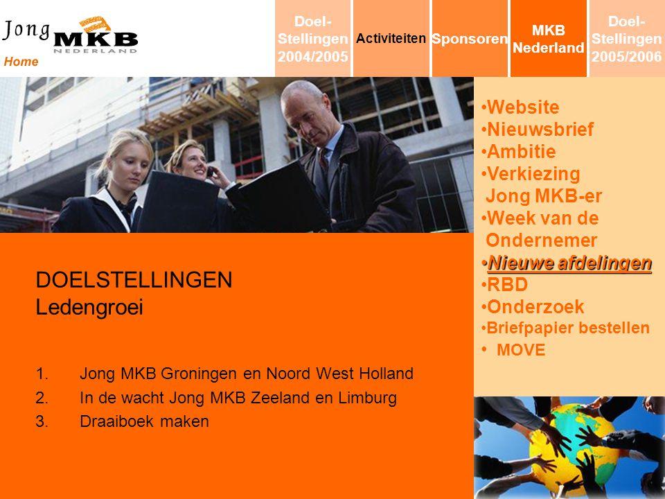 Website Nieuwsbrief Ambitie Verkiezing Jong MKB-er Week van de Ondernemer Nieuwe afdelingenNieuwe afdelingen RBD Onderzoek Briefpapier bestellen MOVE