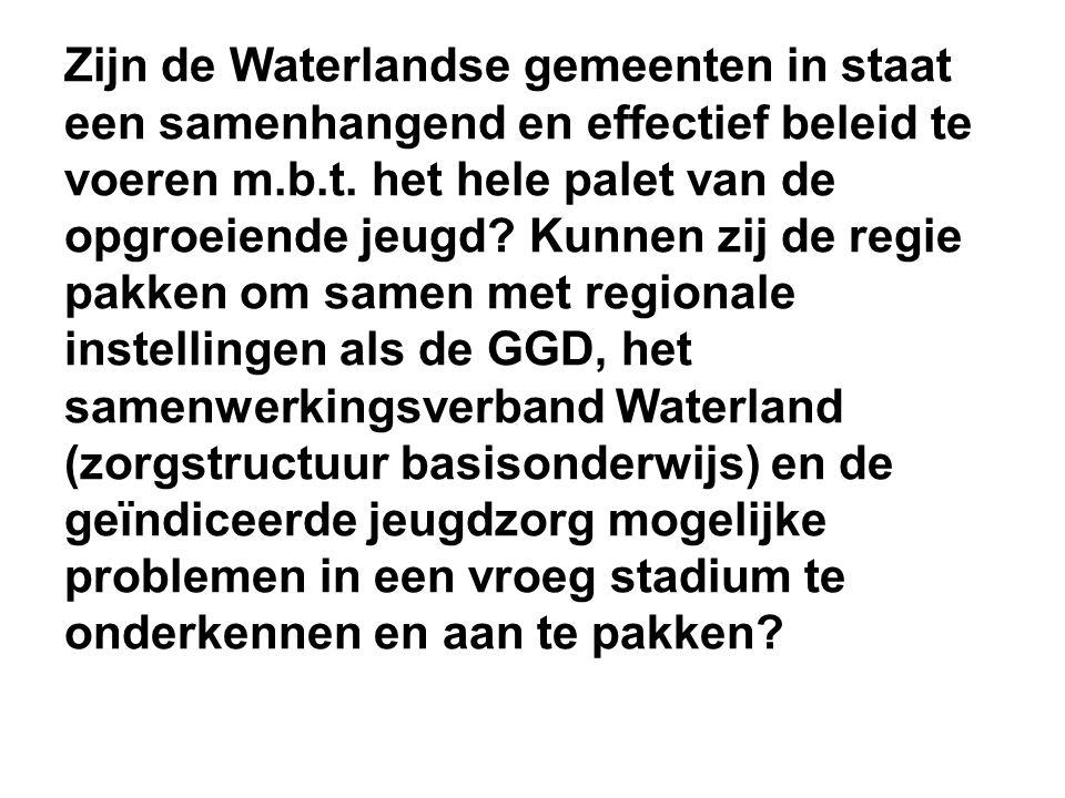 Zijn de Waterlandse gemeenten in staat een samenhangend en effectief beleid te voeren m.b.t.