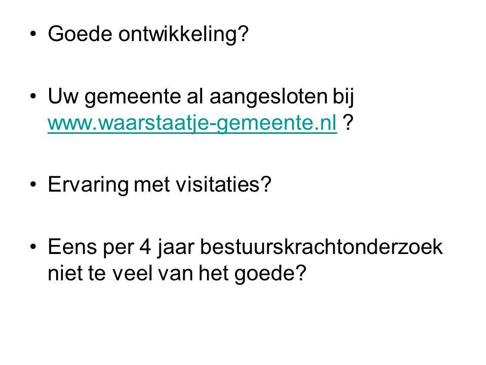Goede ontwikkeling. Uw gemeente al aangesloten bij www.waarstaatje-gemeente.nl .