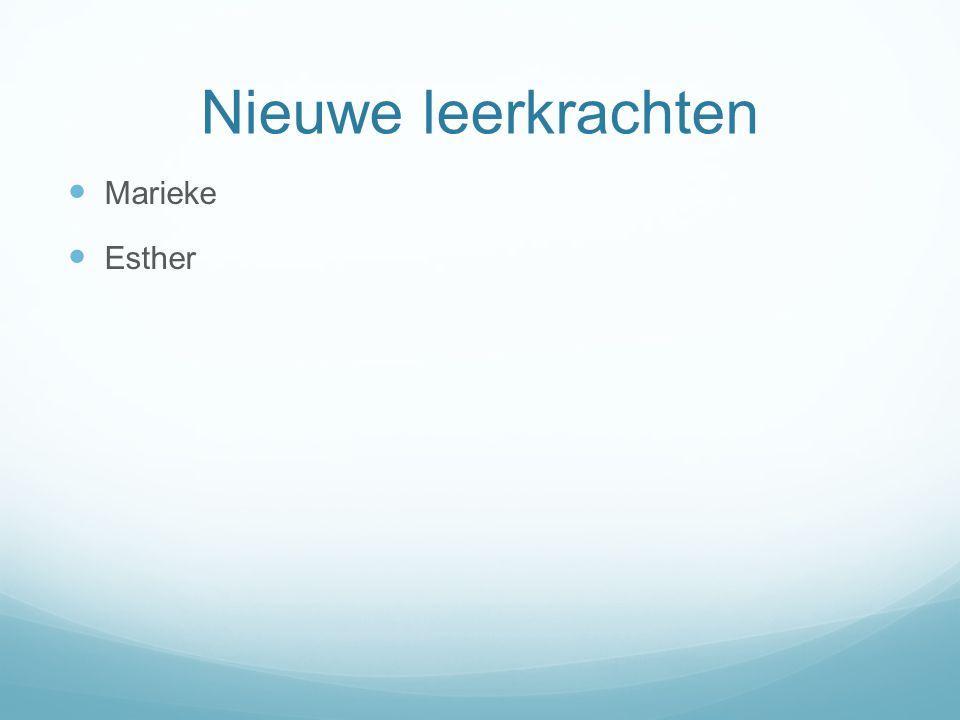Nieuwe leerkrachten Marieke Esther