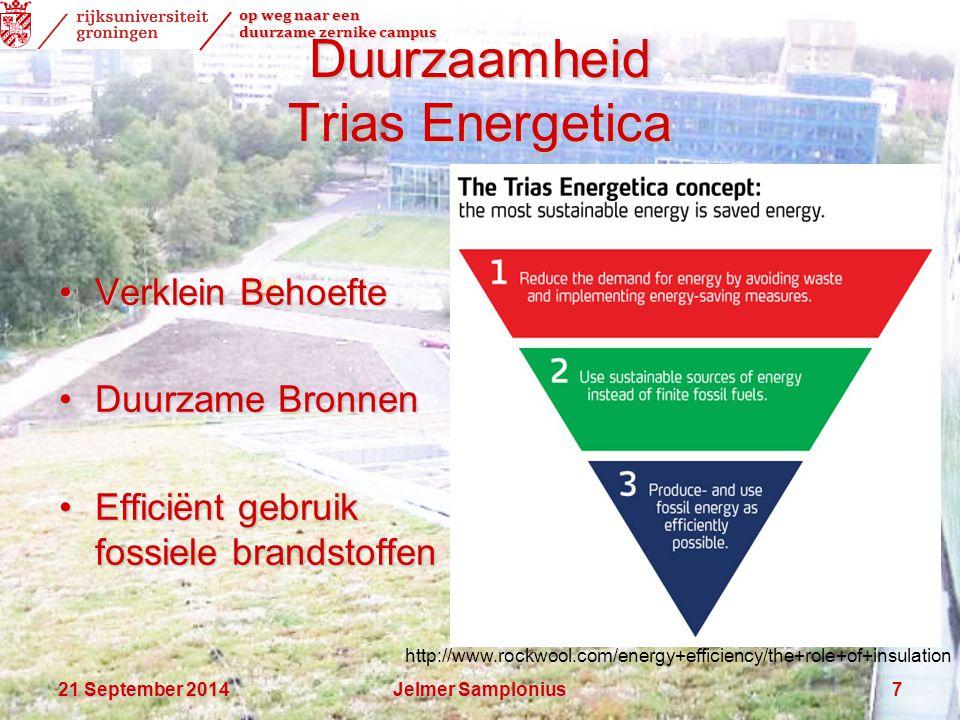 op weg naar een duurzame zernike campus 21 September 201421 September 201421 September 2014Jelmer Samplonius7 Duurzaamheid Trias Energetica Verklein B