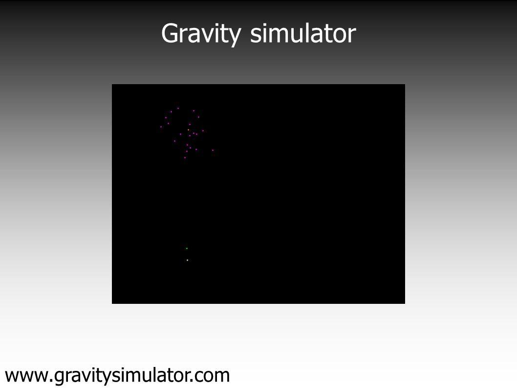 Gravity simulator www.gravitysimulator.com