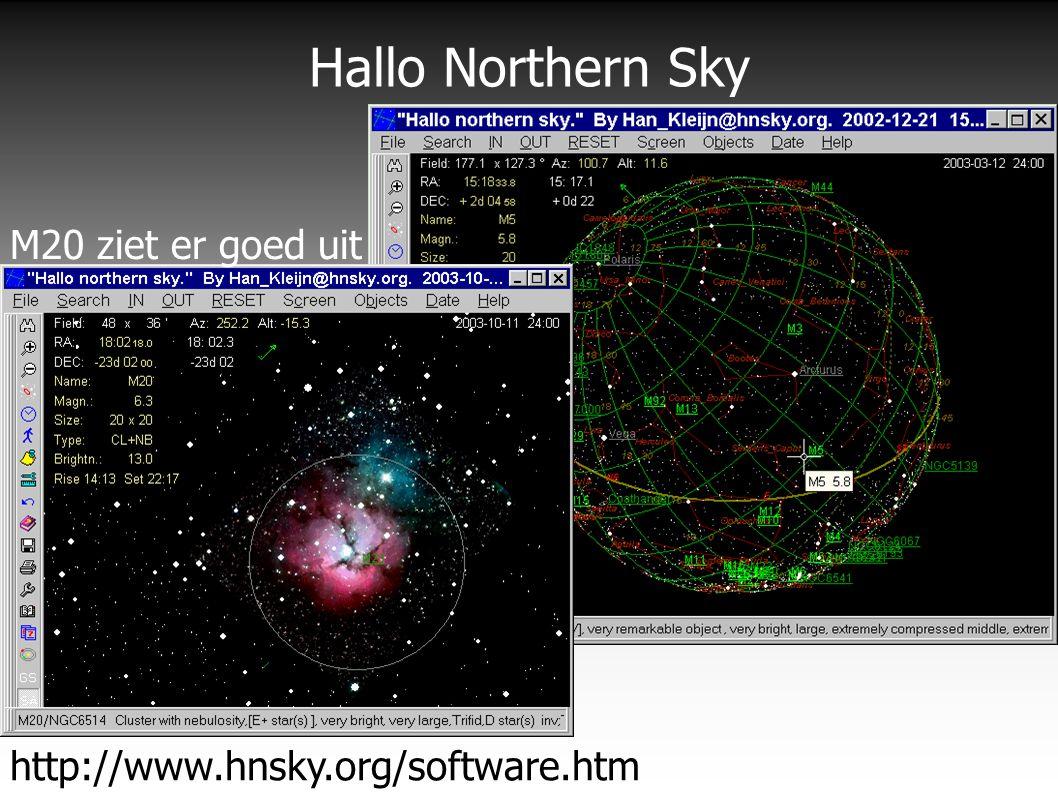 Hallo Northern Sky http://www.hnsky.org/software.htm M20 ziet er goed uit