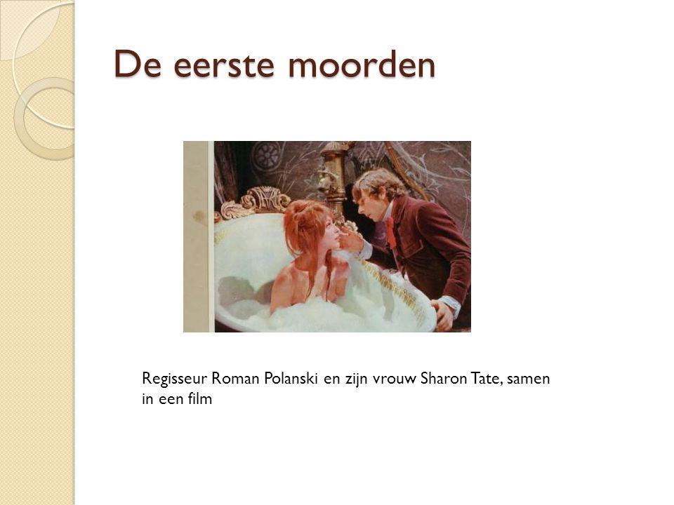 De eerste moorden Regisseur Roman Polanski en zijn vrouw Sharon Tate, samen in een film