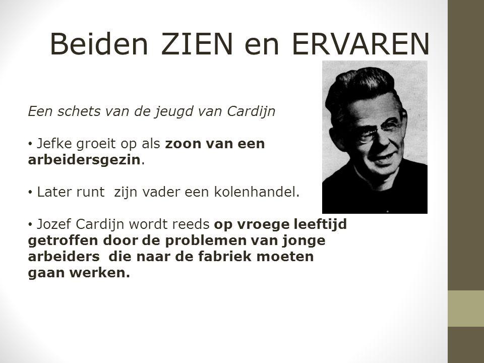 Een schets van de jeugd van Cardijn Jefke groeit op als zoon van een arbeidersgezin.