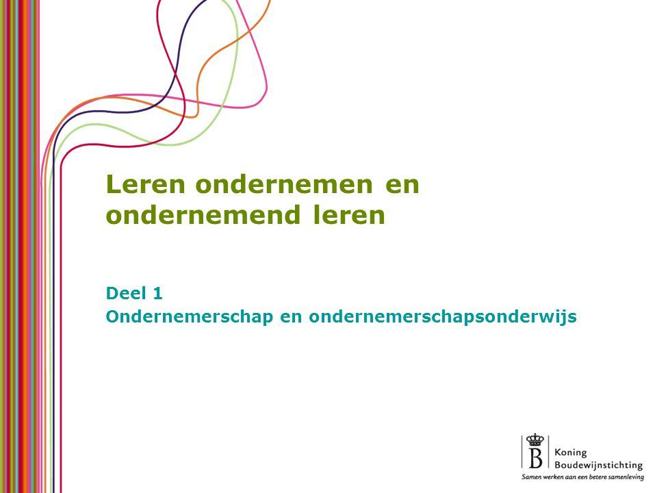 – Terminologie – Kenmerken – Effecten Situatie in Vlaanderen – Ondernemerschap – Ondernemerschap in het onderwijsbeleid – Ondernemerschapsonderwijs per onderwijsniveau Pleidooi voor meer ondernemerschapsonderwijs – Conclusie – Koppeling aan maatschappelijke doelen – Voorwaarden voor succes Indeling in drie presentaties