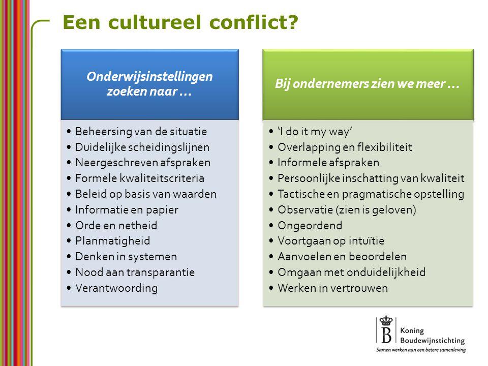 Een cultureel conflict?