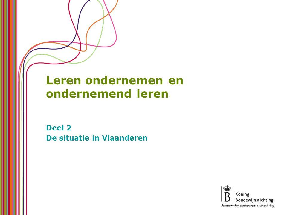 Leren ondernemen en ondernemend leren Deel 2 De situatie in Vlaanderen