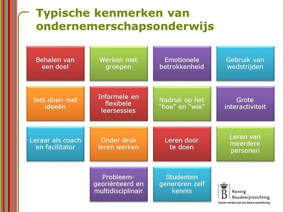 Vijf conclusies Vlaanderen scoort steeds zwakker op gebied van ondernemerschap Deze situatie legt een zware hypotheek op onze welvaart Zowel meer zakelijk als meer sociaal en persoonlijk ondernemerschap zijn noodzakelijk voor de toekomst Ondernemerschapsonderwijs kan hiertoe een belangrijke bijdrage leveren Ondernemerschapsonderwijs genereert ook veel andere positieve sociale en pedagogische effecten
