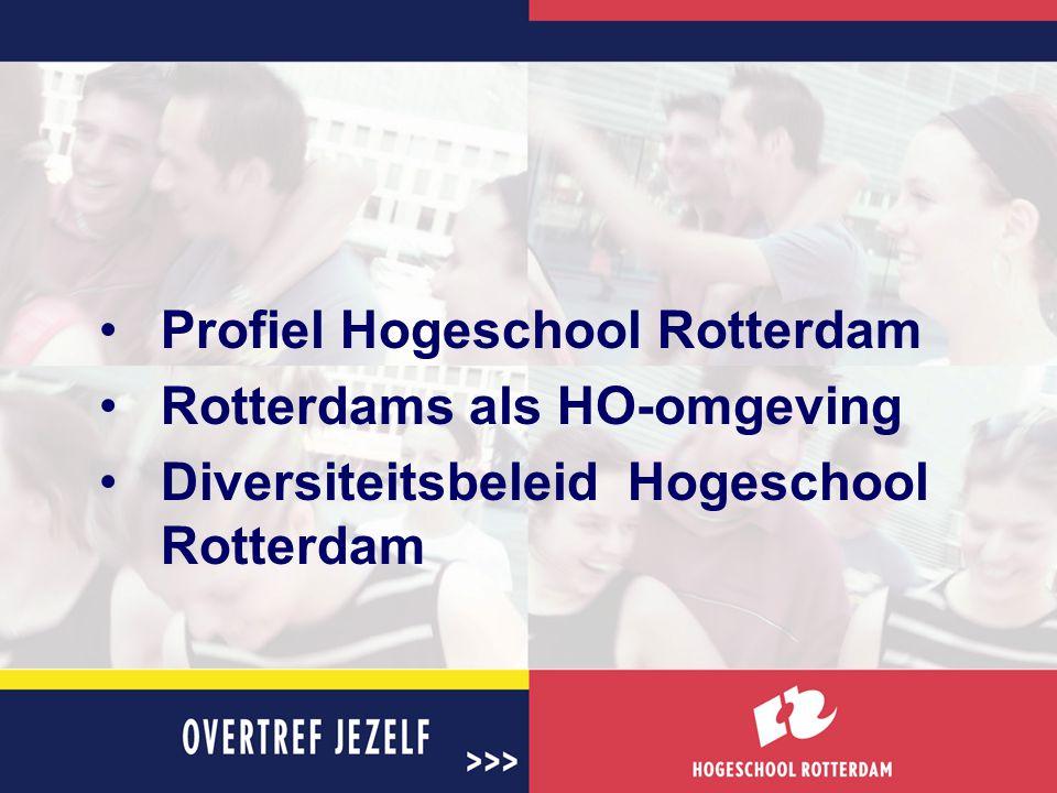 Profiel Hogeschool Rotterdam Rotterdams als HO-omgeving Diversiteitsbeleid Hogeschool Rotterdam