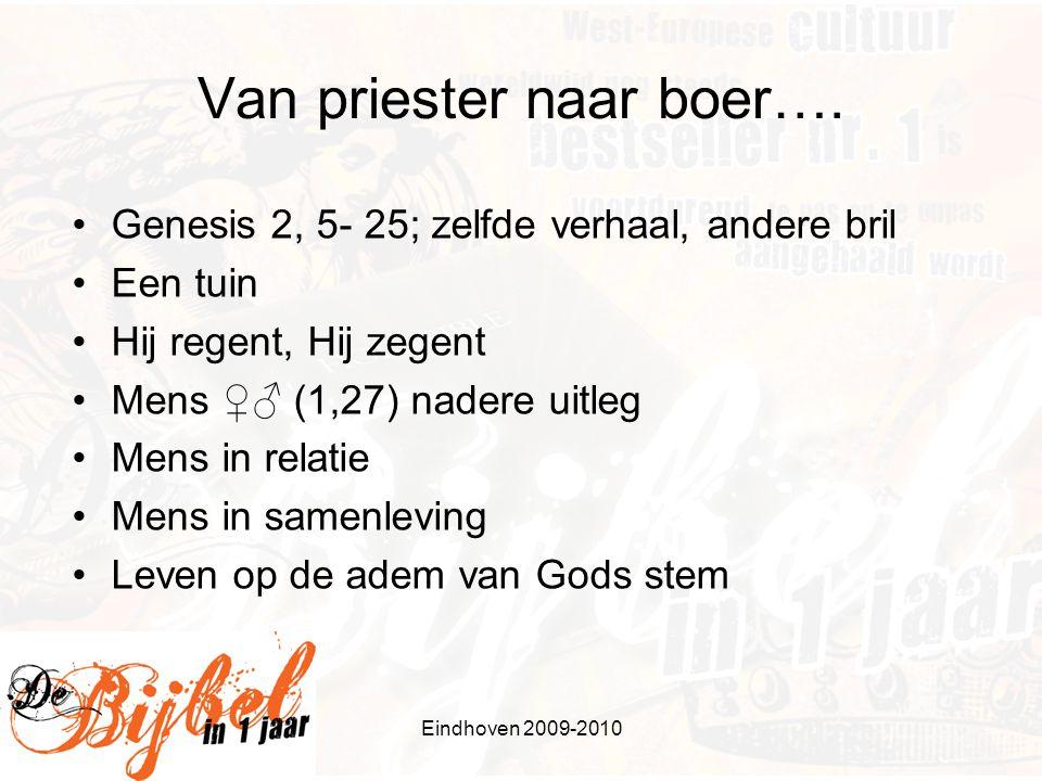 Eindhoven 2009-2010 Van priester naar boer….